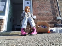 A Series of 10 Semi Spontaneous Performances made across the five days of exhibition atPlatform 1 Gallery, Sept 2018 and Clothing Exchange 2018 Susan Merrick - A clothing exchange set up for both SERIES OF EVENTS 2018. Participants/audience were invited to exchange something for a piece of clothing. The 'something' could be anything from clothes, to a song, to a piece of information.